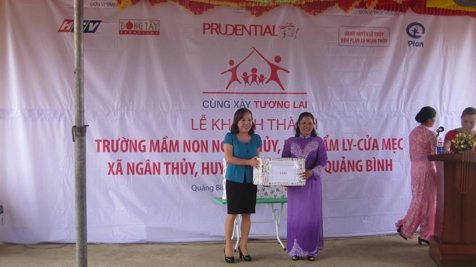 Lễ khánh thành điểm Trường Mầm non Cửa Mẹc – Cẩm Ly, xã Ngân Thủy, huyện Lệ Thủy.