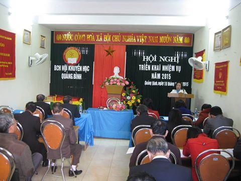 Hội Khuyến học Quảng Bình: Hội Nghị triển khai nhiệm vụ năm 2015.