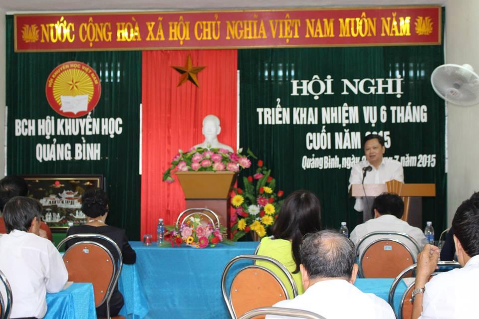 """HKH Quảng Bình: Triển khai nhiệm vụ 6 tháng cuối năm 2015 và Tổng kết thí điểm mô hình """"GĐHT"""", """"DHHT"""", """"CĐHT"""", """"ĐVHT"""" giai đoạn 2014 - 2015."""
