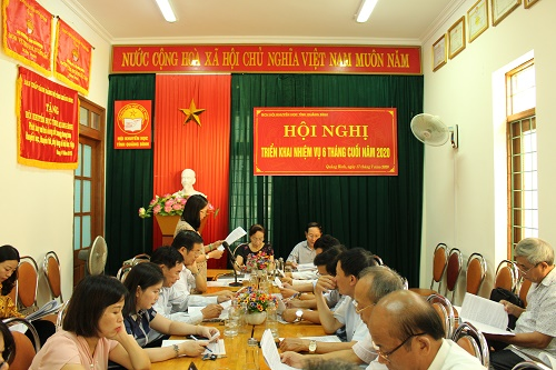 Hội Khuyến học Quảng Bình: Hội Nghị triển khai nhiệm vụ 6 tháng cuối năm 2020