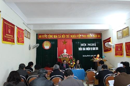 Hội Khuyến học Quảng Bình tổ chức Hội nghị Ban Chấp hành mở rộng Tổng kết năm 2017, triển khai phương hướng nhiệm vụ năm 2018