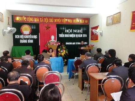 Hội Khuyến học Quảng Bình: Triển khai nhiệm vụ năm 2014.