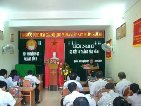 Hội Khuyến học tỉnh: Hội nghị sơ kết 6 tháng đầu năm và triển khai nhiệm vụ 6 tháng cuối năm 2012.